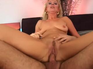 Older blonde cougar Marilyn needs young cock to satisfy her horny wet pussy