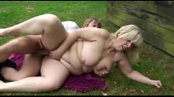 Chubby Mature Blonde Eats His Cock And Then Gets Drilled Outside - Free Porn   Sex Video - Mature, B