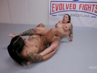 Miss Demeanor Rough Lesbian Sex Fight Vs Tori Avano With Scissoring And Pussy Eating