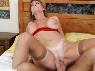 REDHEADED DIRTY WIFE LOVES SUCKING YOUNG COCK