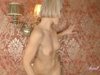 40yr old Super-MILF Aunt Natie Masturbates in Sexy Stockings and Lingerie