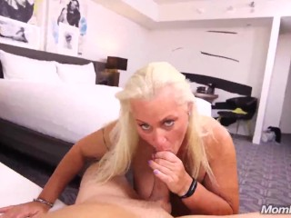 Kathy MP - Busty Blonde Milf Nurses Cock