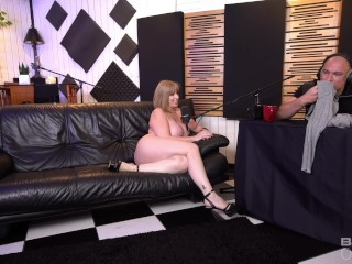 Sara Jay has sex during her intervview