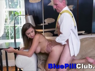 Old Men Getting Sucked Off By Big Tits Teen Slut